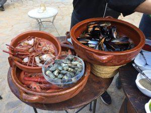 Leckere Meeresfrüchte für den Paella Kochkurs auf Mallorca