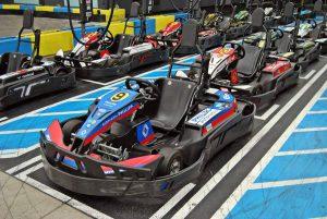 Indoor Karting Mallorca Aufstellung der Kart
