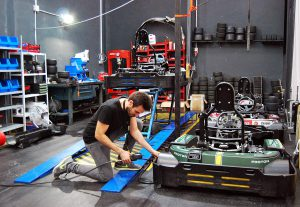 Indoor Karting Mallorca Werkstatt